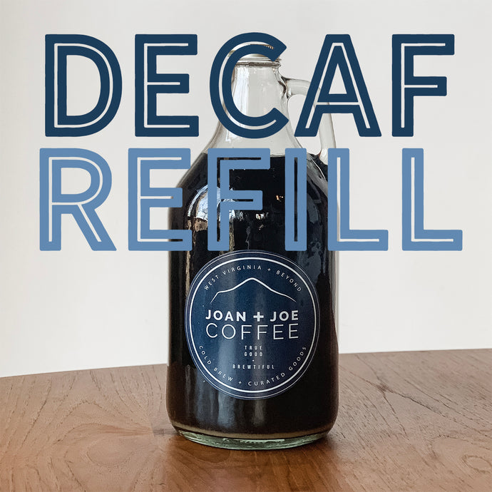 DECAF Cold Brew Growler Refill - Half Gallon