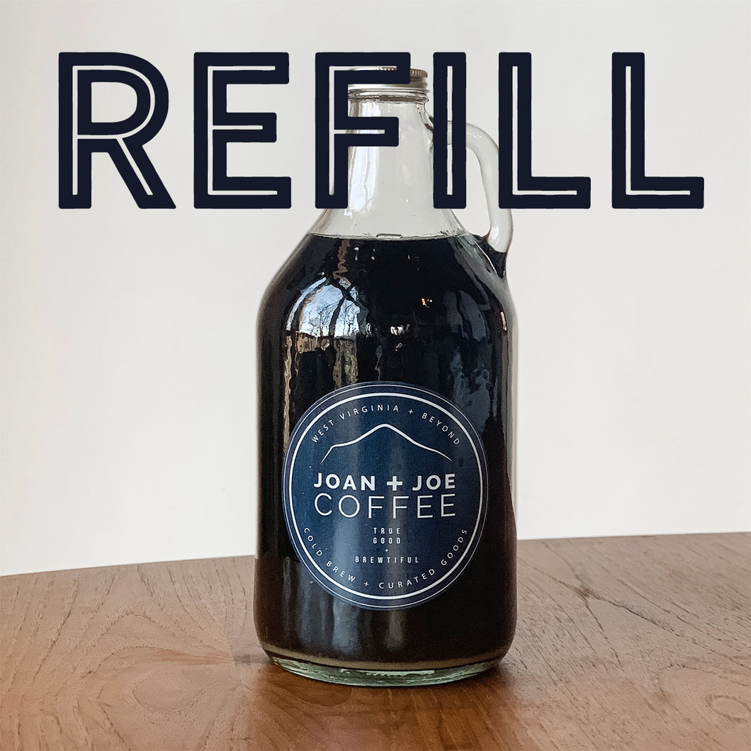 Fresh Cold Brew Growler Refill - Half Gallon