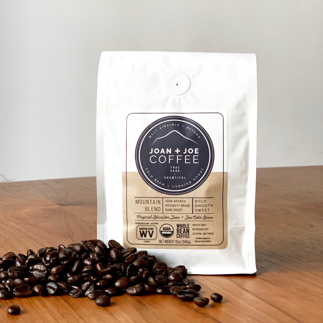 Mountain Blend - Dark Roast Organic Whole Coffee Beans 12oz
