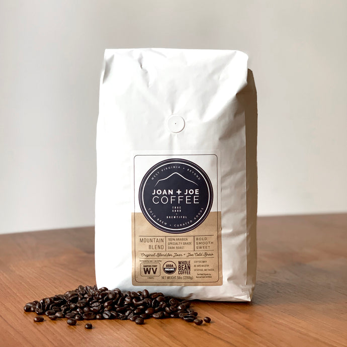 Mountain Blend - Dark Roast Organic Whole Bean Coffee 5lbs