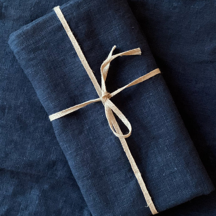 Indigo Linen Kitchen Towels