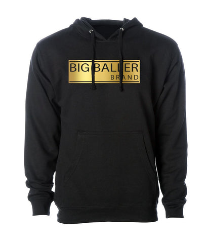 Big Baller Brand Gold Foil Closed Bar Hoodie