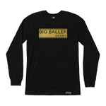 Big Baller Brand Closed Bar Gold Foil Long Sleeve
