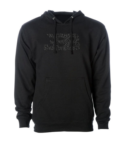 Big Baller Brand Black Diamond Glitter Hoodie