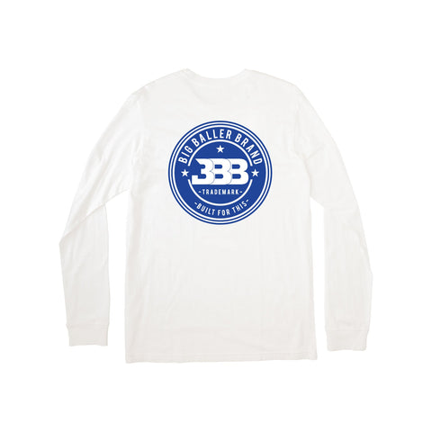 Big Baller Brand Trademark Long Sleeve White