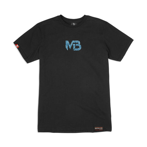 MB1 Logo - Blue Ice Black Tee
