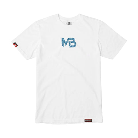 MB1 Logo - Blue Ice White Tee