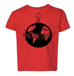 BHS2 SHORT SLEEVE RED WORLD T-SHIRT