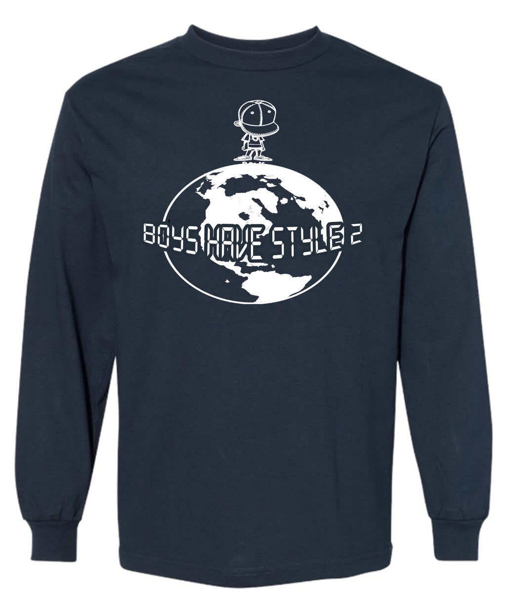 BHS2 World Adult Long Sleeve T-Shirt Navy