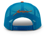Siren LowPro Trucker: Blue Hawaiian, White & Orange