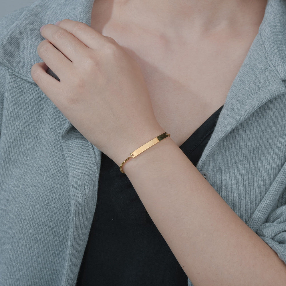 Bracelet with your own engraving