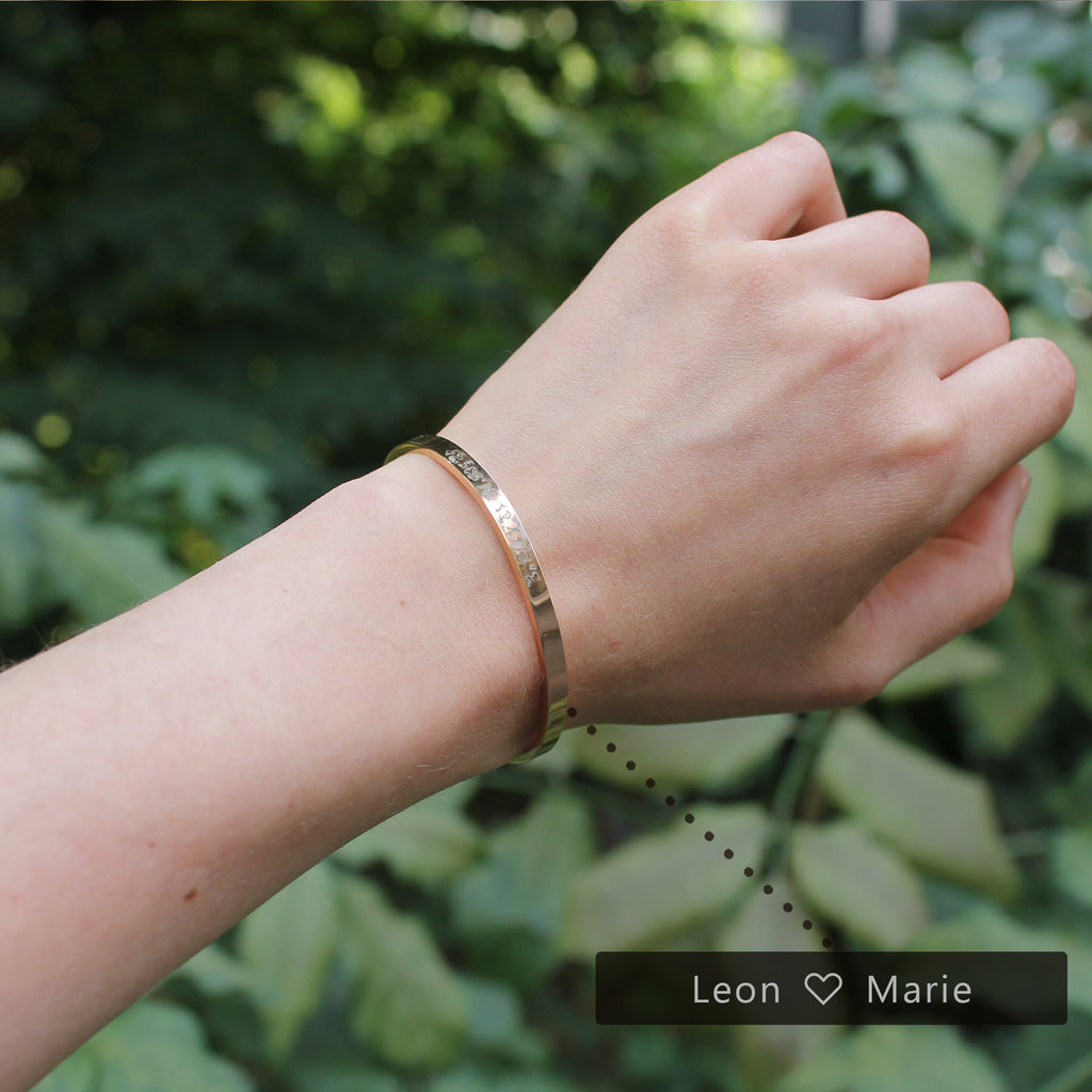 Bangle with your own engraving - your coordinates