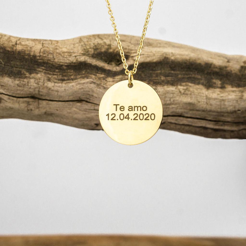 Disc chain with its own engraving