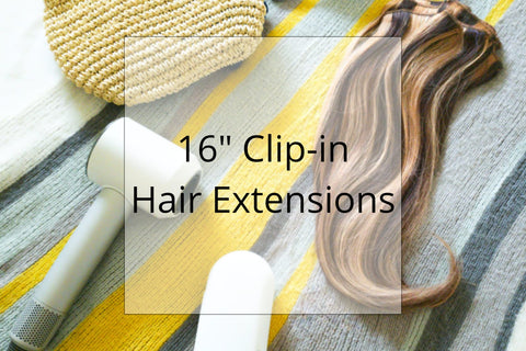 "Shop 16"" Clip on Hair Extensions"