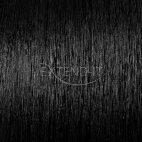 #1 Jet Black Midnight Hair Extensions Extend-it 20 inch 16 inch