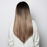 #1C/18 Ombré<br>Off-Black/Blonde<br>Clip-in Hair Extensions