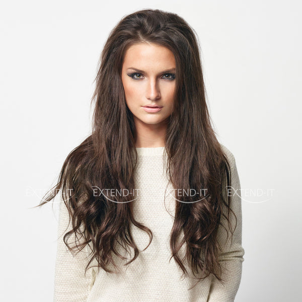 #2 Dark Brown<br>Clip-in Hair Extensions
