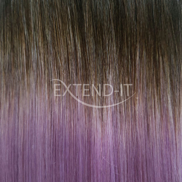 #1C/Lilac - Black Espresso / Lilac Ombre Colour Swatch - Extend-it Shop