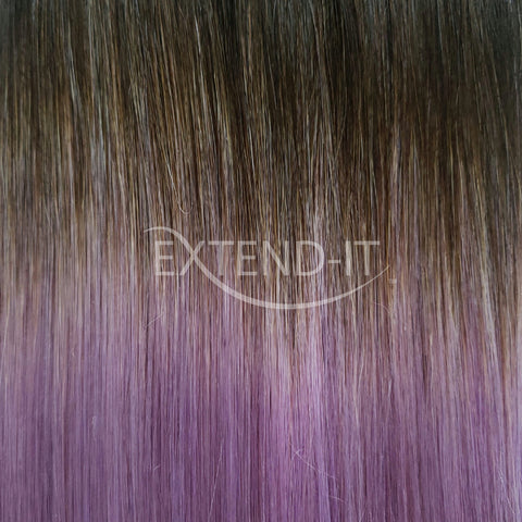 #1C/lilac Ombré<br>Off-Black/Lilac Purple<br>Clip-in Hair Extensions