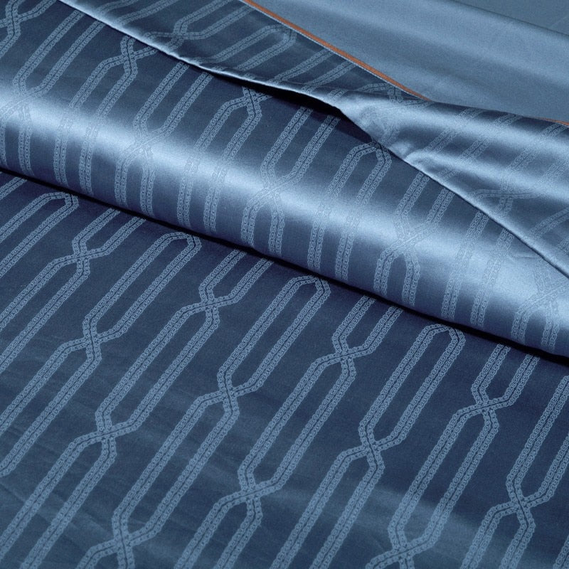 Midnight Blue Egyptian Duvet Set