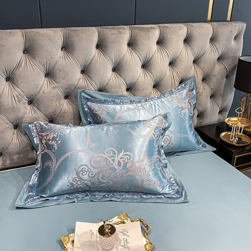 Quench Blue Jacquard Duvet Set