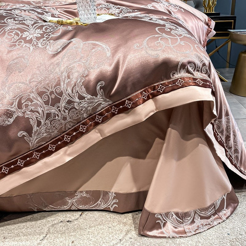 Apricot Peach Vintage Duvet Cover Set