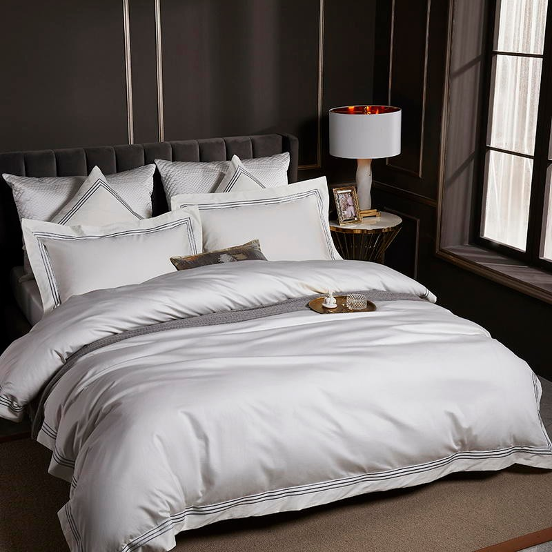 Majestic Pure White Duvet Cover Set