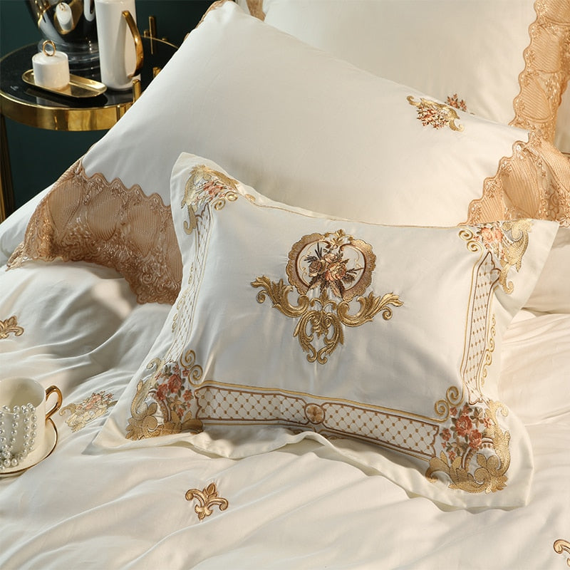 Oriental Royal Lace Bedding Cover Set