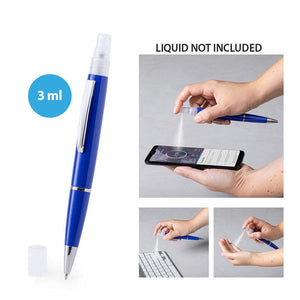 BALLPOINT PEN with refillable container for disinfectant