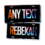 Personalized Galaxy Night Sky Custom Text License Plate