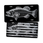 Silver Bass Fishing License Plate