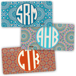Boho Chic Style Monogram License Plate