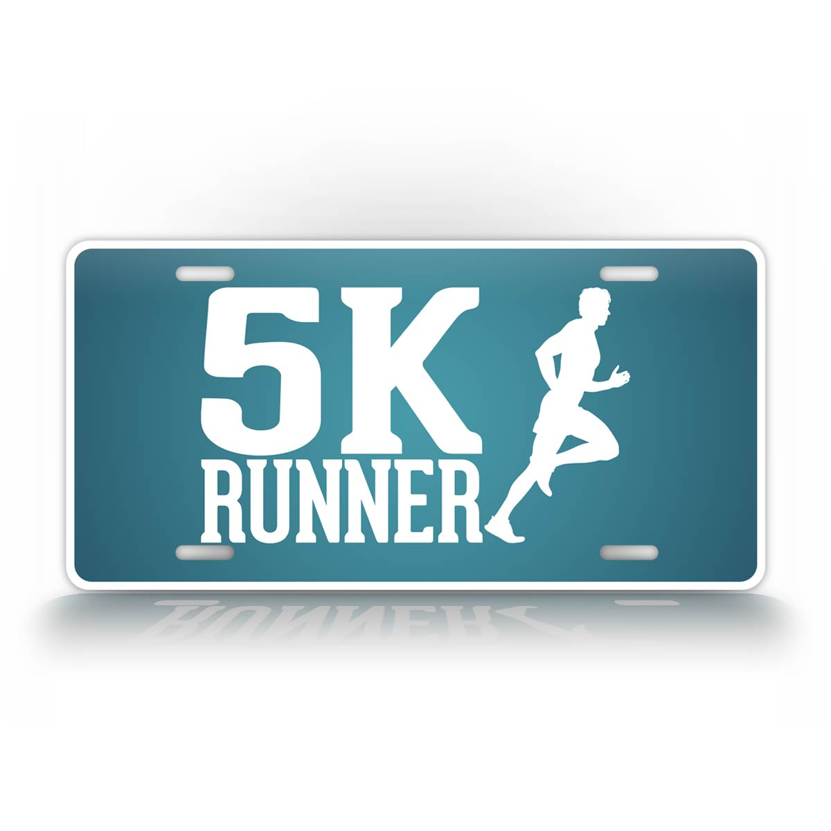 5K Runner License Plate Blue Running Auto Tag