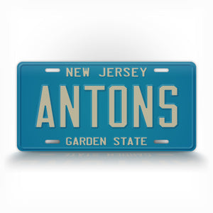 Custom 1979-1985 New Jersey State Auto Tag