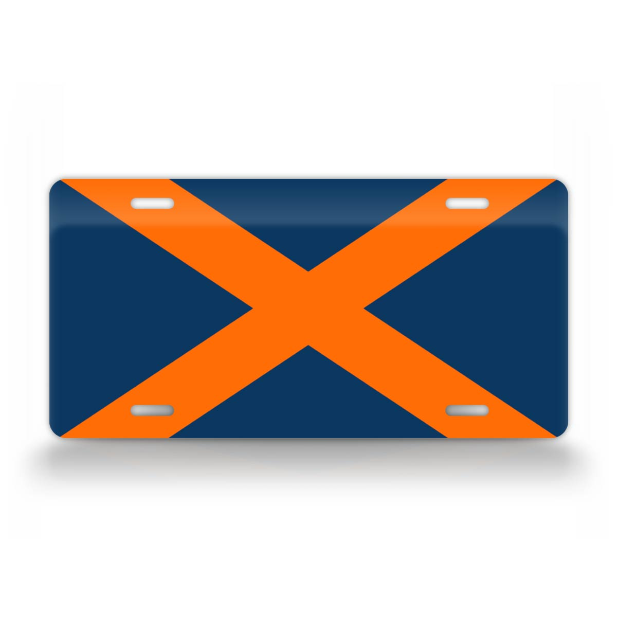 Alabama Flag College Football Auburn Colors License Plate
