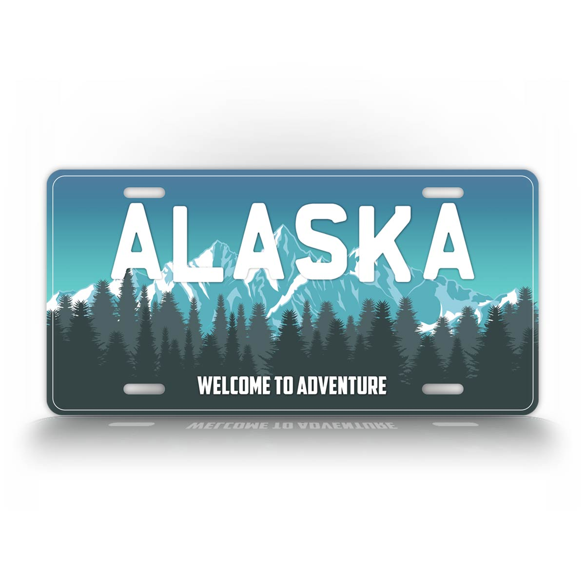 Alaska Welcome To Adventure License Plate