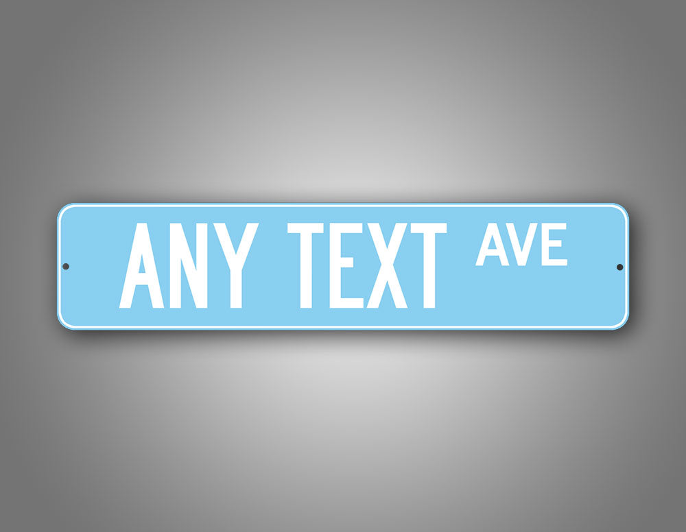 Personalized Baby Blue Cute Street Sign