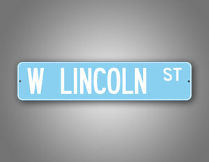 Personalized Baby Blue Adorable Street Sign Any Text