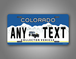 Colorado Antique Vehicle Auto Tag