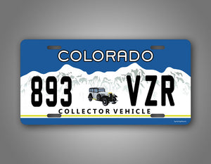 Colorado Antique Vehicle License Plate