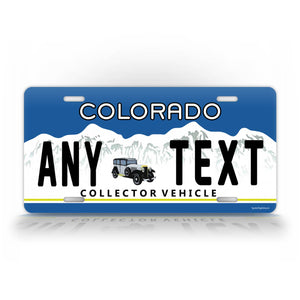 Vintage Custom Any Text Colorado Antique Car Auto Tag