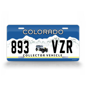 Vintage Custom Colorado Antique Car License Plate