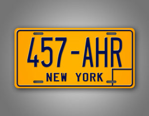 Vintage New York Personalized License Plate