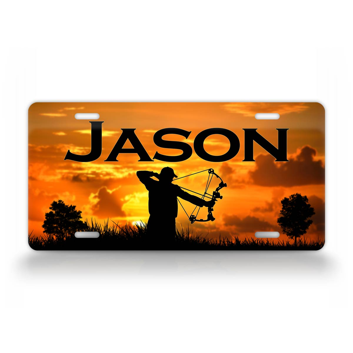 Personalize Any Name Bow Hunting License Plate