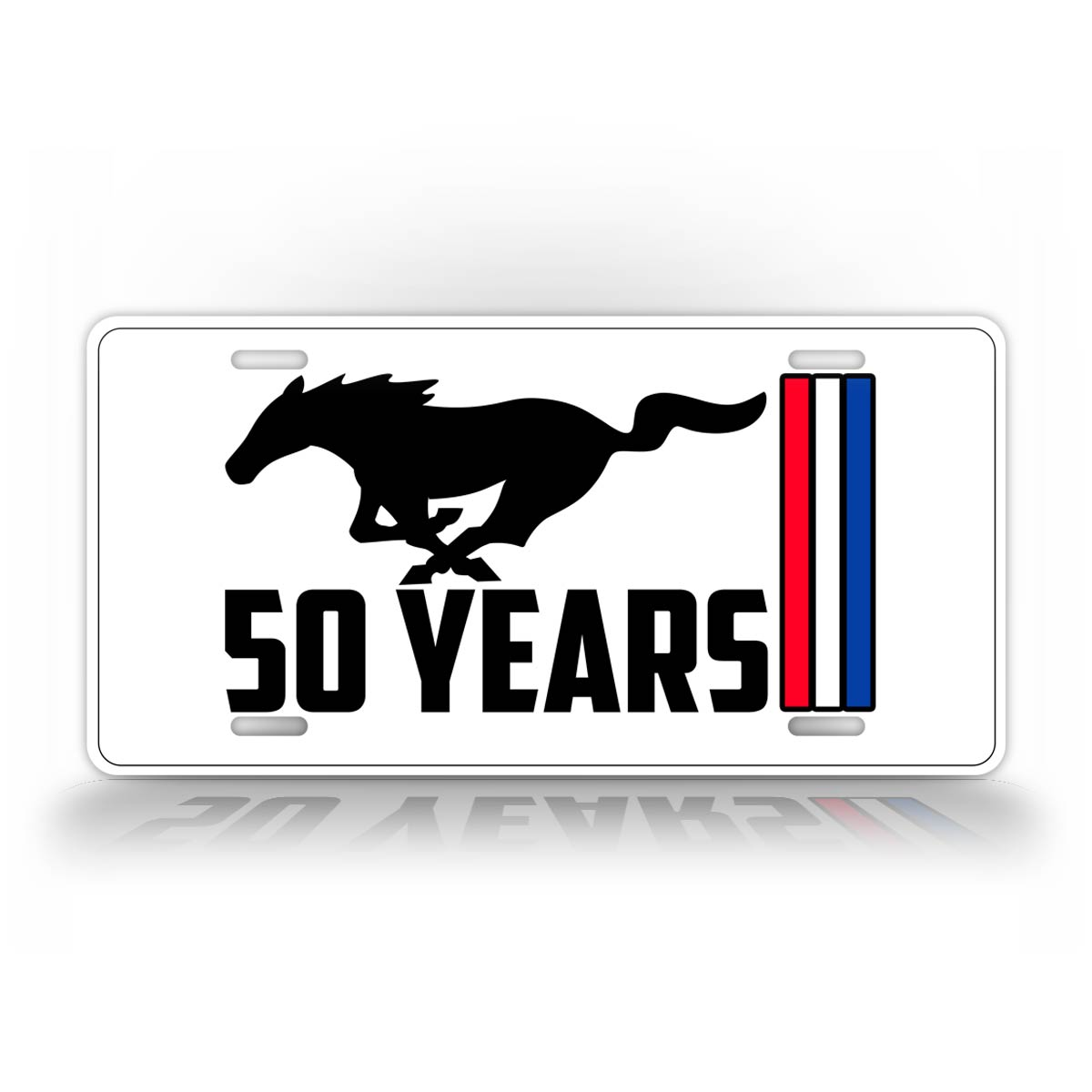 50 Years Of Mustang Sports Car Auto Tag