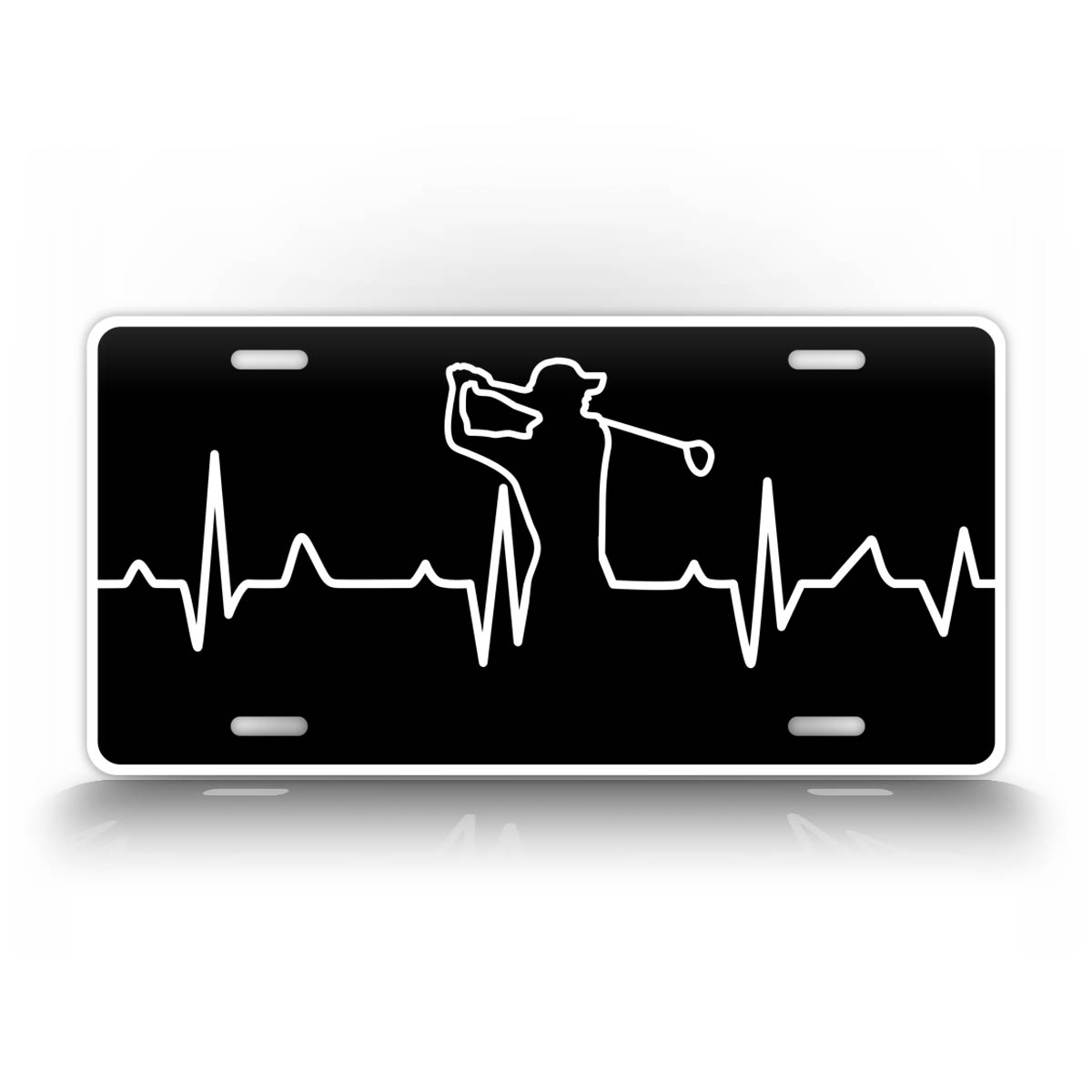 Golfing Heartbeat License Plate