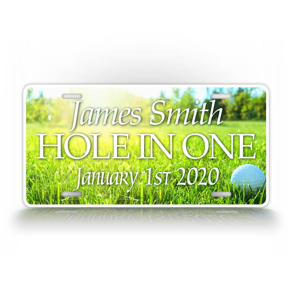 Custom Hole In One Golfing License Plate