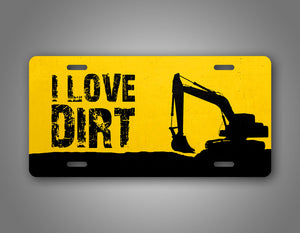 Heavy Equipment Operator Excavator License Plate