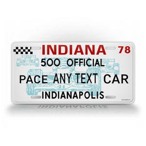 Personalized Indianapolis 500 Custom Auto Tag