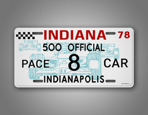Personalized Indianapolis 500 Official Pace Car Custom Car Auto Tag